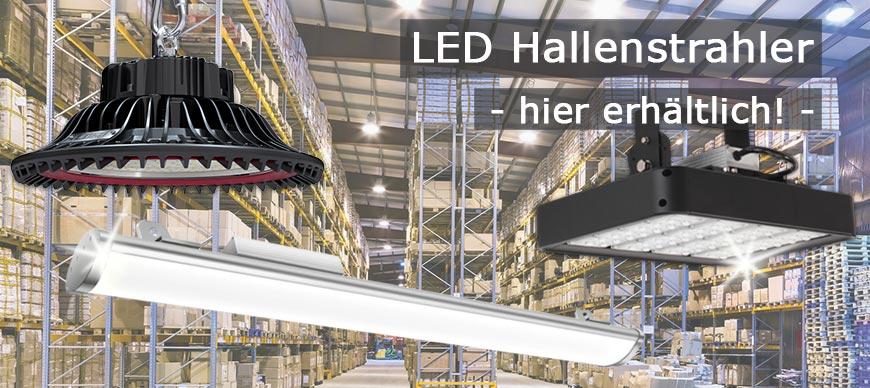 LED-Hallenbeleuchtung Grosshandel für LED-Hallenstrahler und LED-Lichtbandsysteme