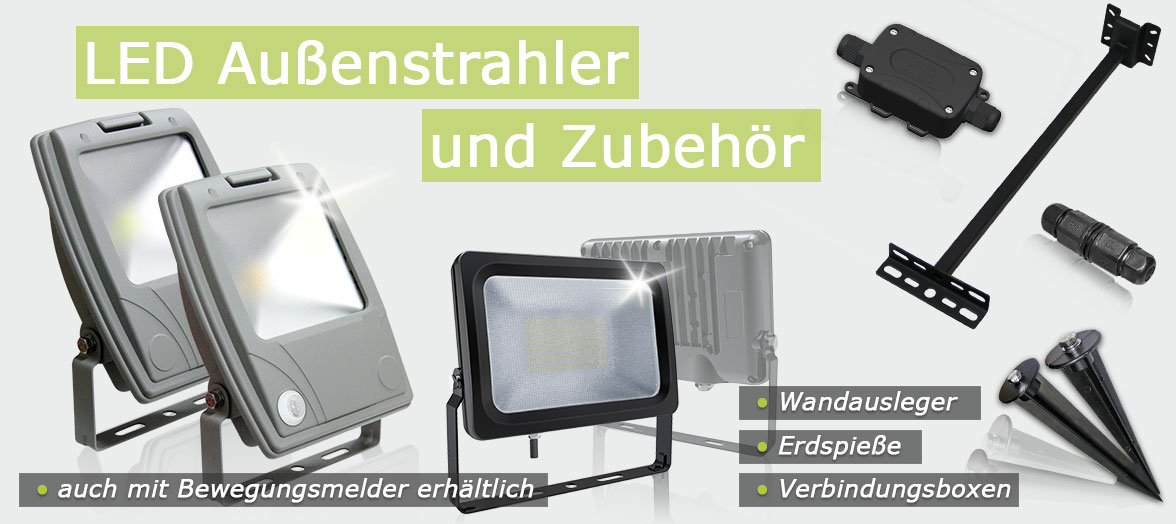 LED-Strhaler und LED-Fluter im Grosshandel